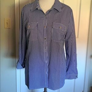 Notations NEW classic blouse blue stripes